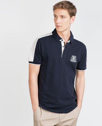 Imagem 1 de POLO BICOLOR BORDADOS da Zara | Camisetas polo