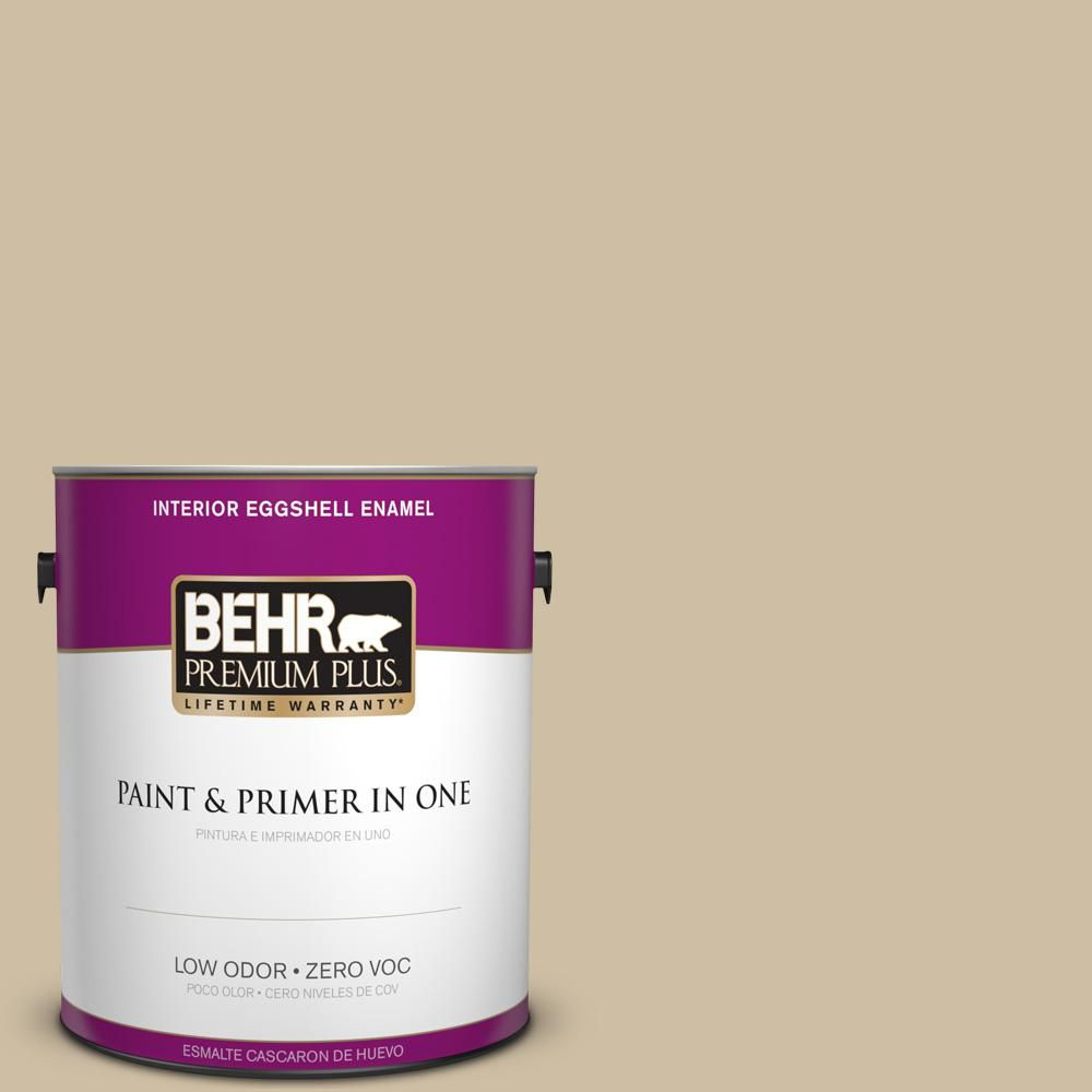BEHR Premium Plus 1 gal. #PPU8-10 Rye Bread Zero VOC Eggshell Enamel Interior Paint