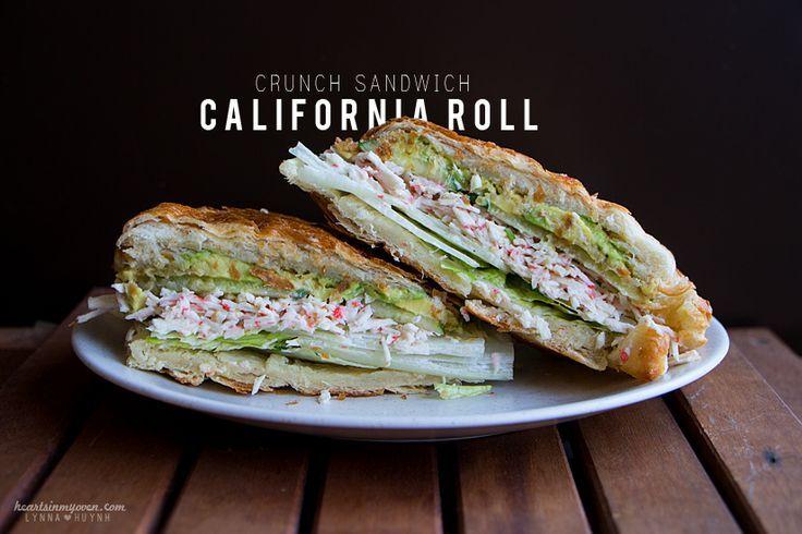Hearts in My Oven: California Roll Crunch Sandwich