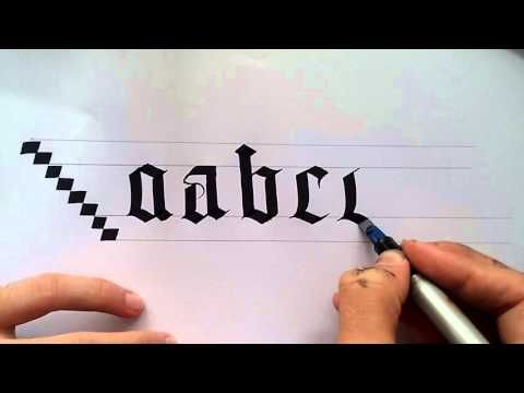 Calligraphy lesson part 1 gothic chancery free see description