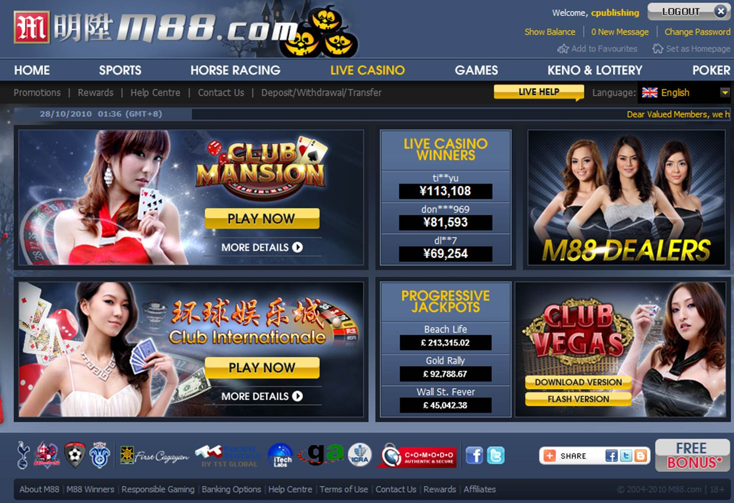 With M88, we still have an effective vision to supply all of our customers m88 game entertainment of great including exceptionally great value.  Great Choice We offer our clients our paid members with M88 LIVE SPORTS ENTERTAINMENT, PLAY LIVE CASINO ONLINE, ARE LOCATED LOTTERY and KENO, P2P TEXAS HOLD'EM. https://www.m88u.com