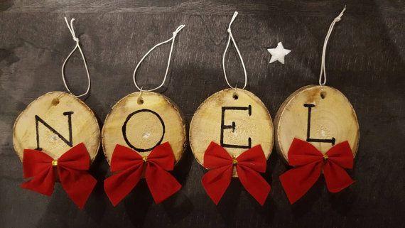Article De Noel Décoration de Noël en rondin de bois | Christmas ornaments