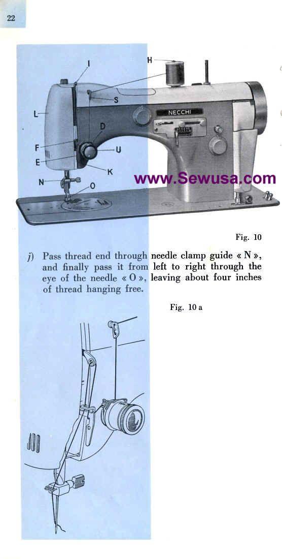 Necchi Bu Sewing Machine Threading Diagram - Wiring Diagram Go on