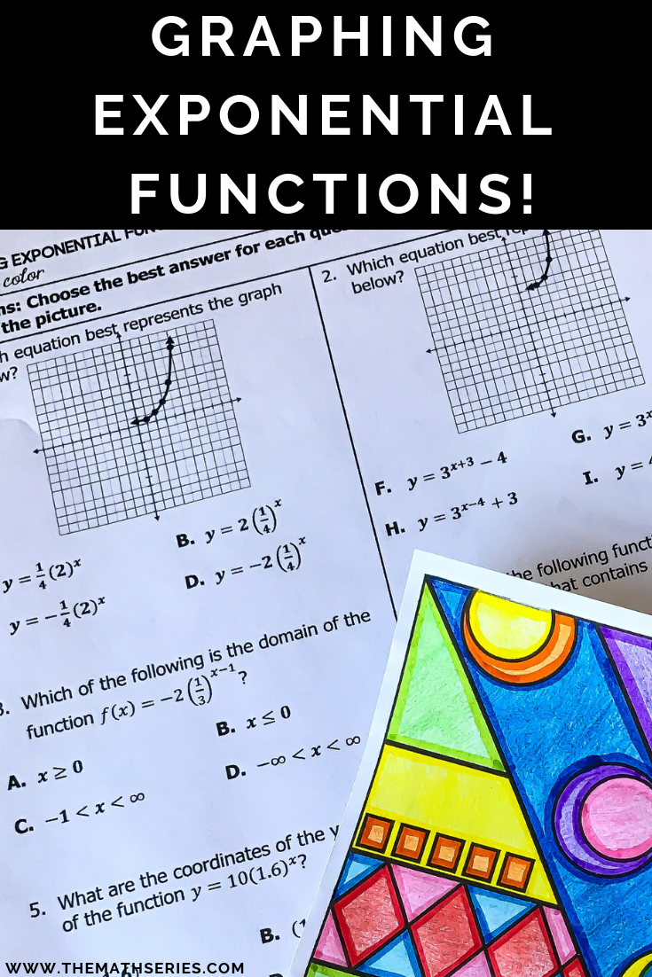 Graphing Exponential Functions Math With Color Exponential Functions Functions Math Exponential