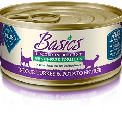 Blue Buffalo Basics Cat Grain Free Indoor Turkey Wet Cat Foo...