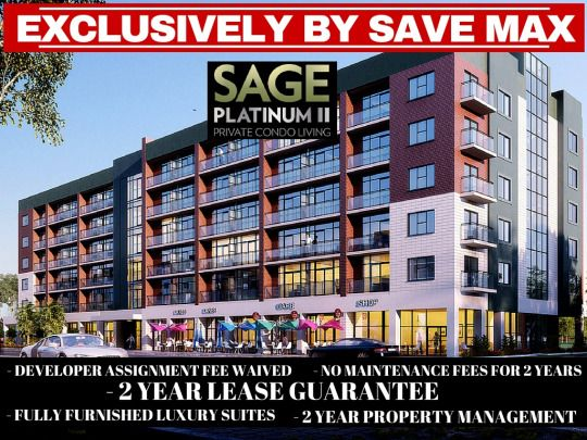 Sage Platinum In Waterloo is 100% Sold-Out, But Save Max