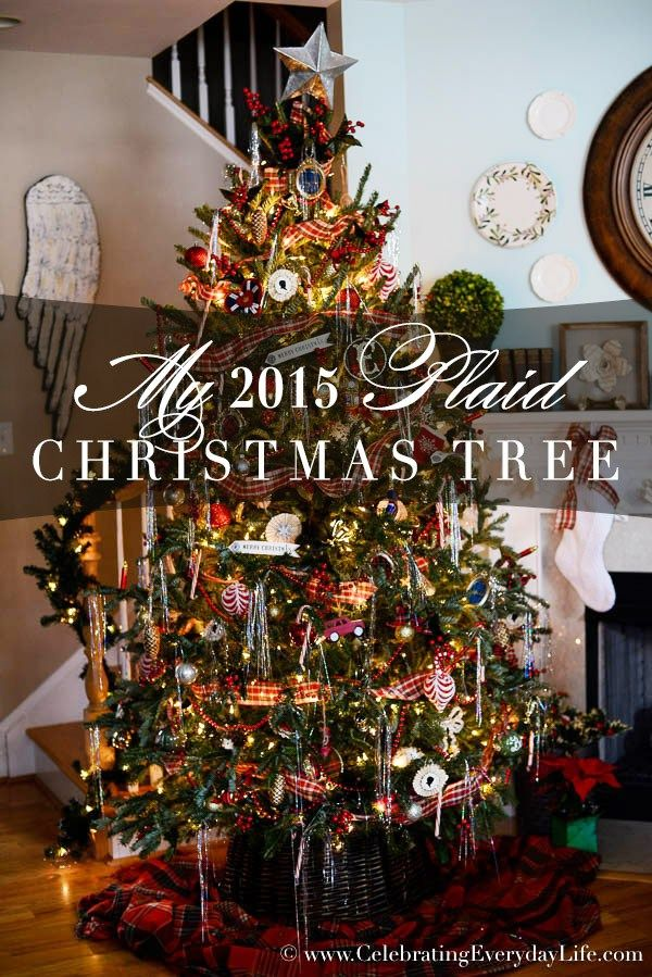 Old Fashioned Christmas Decorations my 2015 plaid christmas tree | trees, christmas trees and plaid
