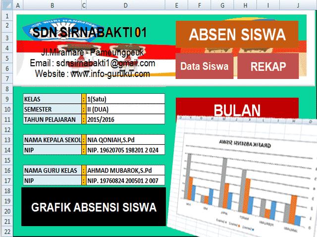 Aplikasi Absensi Siswa Plus Tabel Grafik Siswa Otomatis Dengan Excel Dapodik 13 Aplikasi Guru Kurikulum
