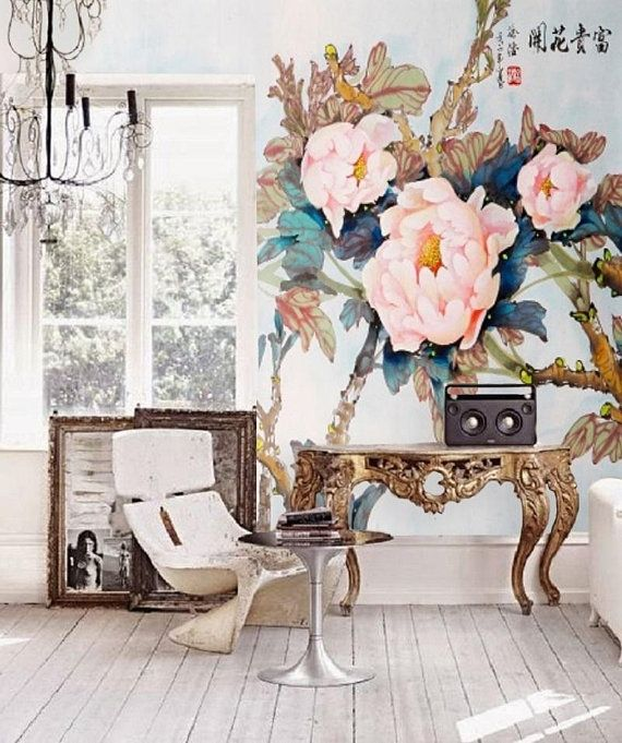 Chinoiserie Wallpaper Removable Wall Mural Peel and Stick