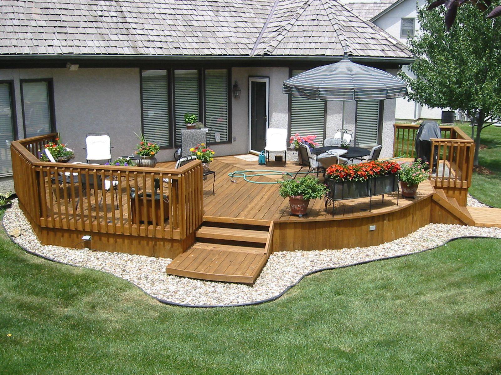 ground level deck - Google Search   Deck designs backyard ... on Ground Level Patio Ideas id=24359