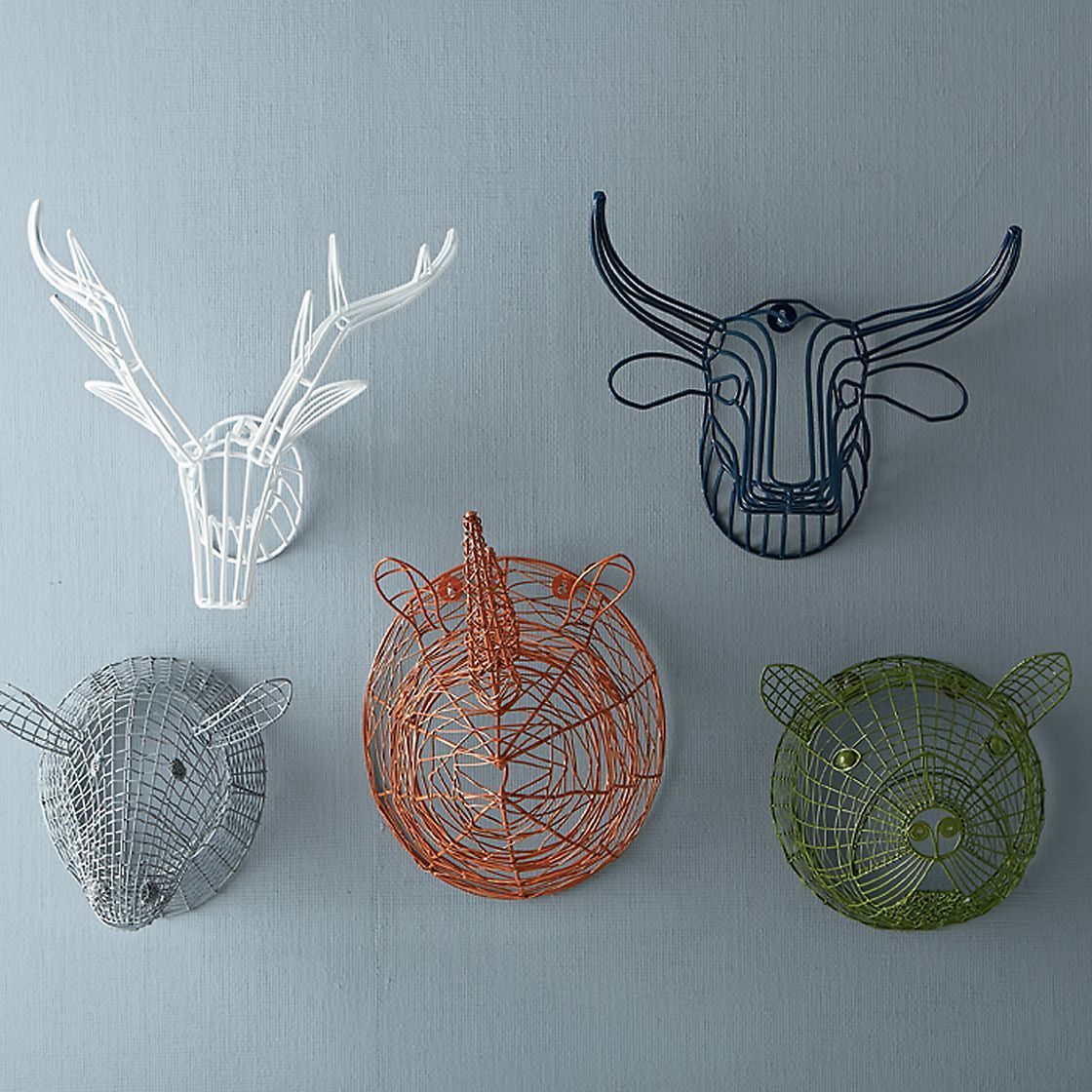 Wire Animal Heads Kids Bedroom Decoration | Company Kids | CRAFTS ...