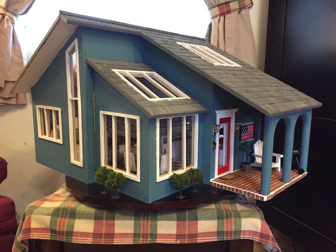 Contemporary ranch dollhouse that I made | Real good toys ... on wooden toy car plans, wooden toy train plans, black box plans, tool tote plans, serenity plans, er plans, bookcase plans, sanctuary plans, woodworking plans, wooden pull toys plans, life plans, firefly plans, floor plans,