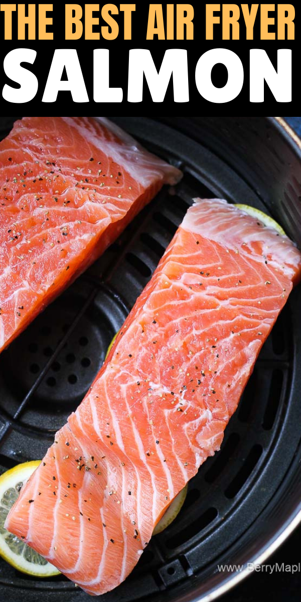 Air fryer salmon fillets #airfryerrecipes