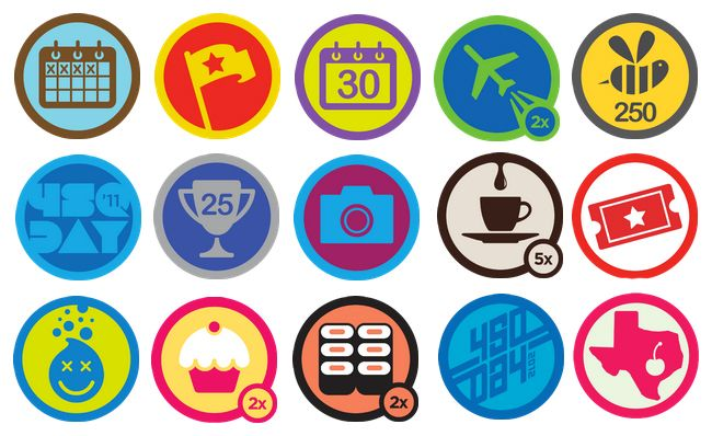 Badge Website foursquare badges the simplicity and creativity needed for