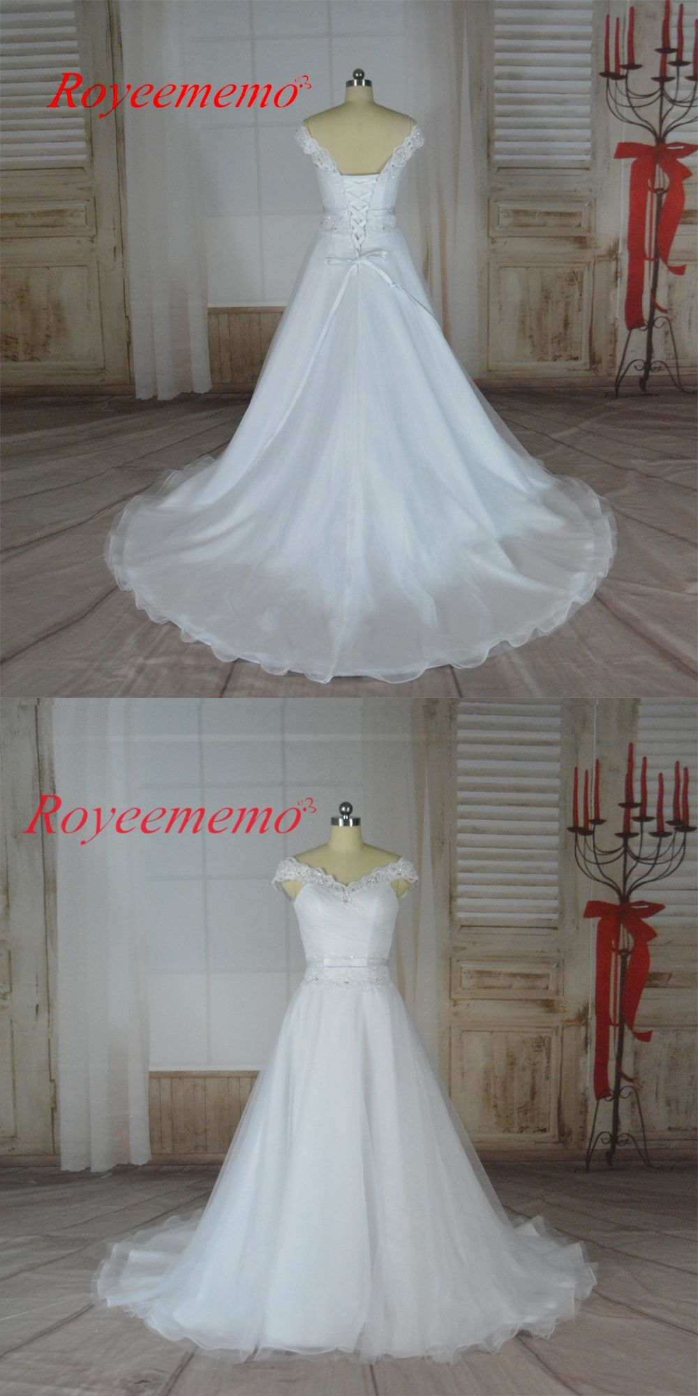 2017 New design simple Wedding Dress real image factory made ...