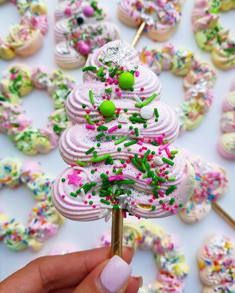 Christmas Tree Meringue.Sugar Salt On Instagram Christmas Tree Meringue Pop