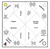 Fortune Teller Ideas Geometry Fortune Teller Game For Kids  Great Geometry Review Idea
