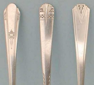 Nouveau/Deco cutlery handles  Re-Pinned by www.silver-and-grey.com