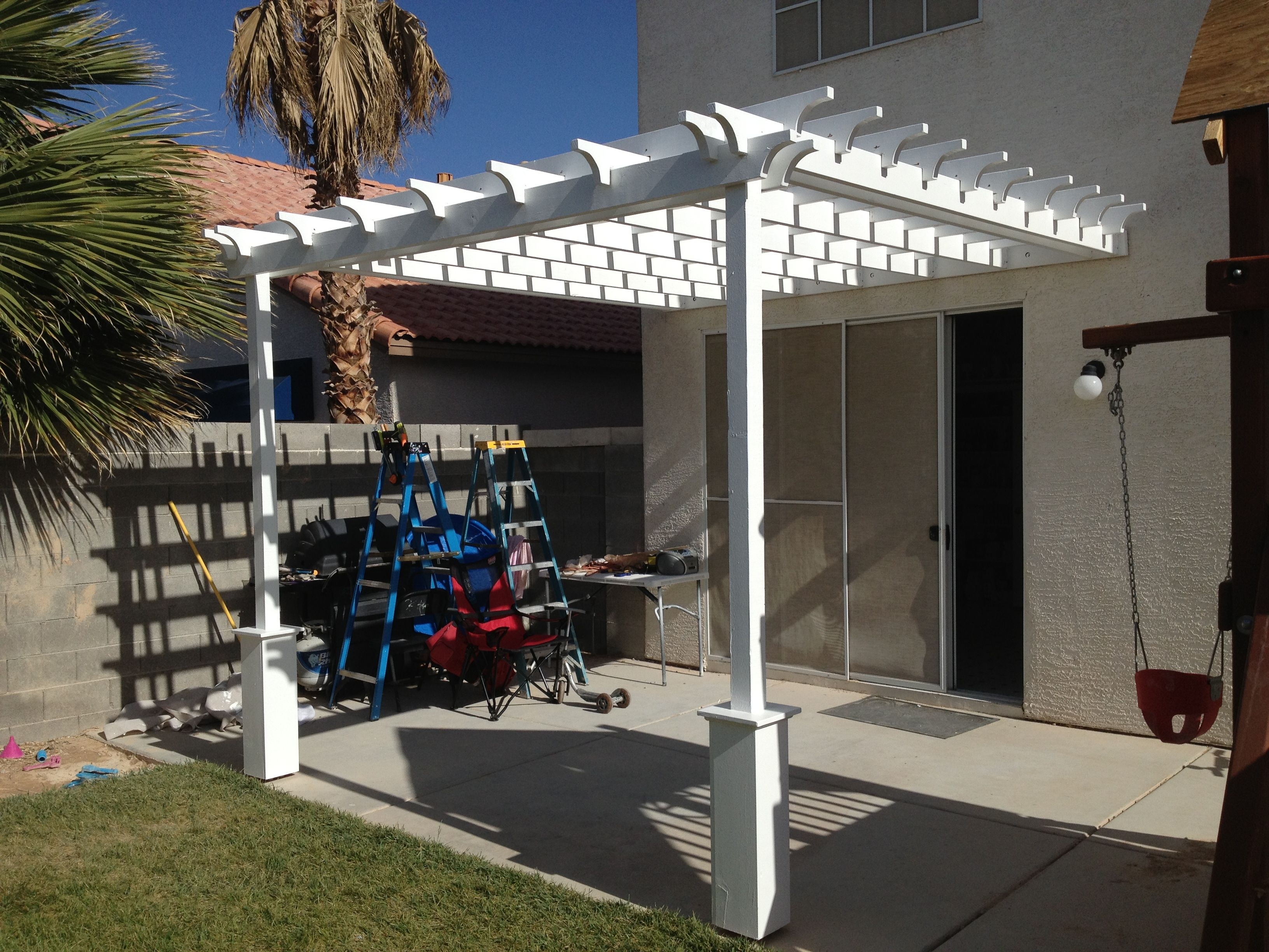 Attached Pergola Plans | Pergola (attached Directly To The House)