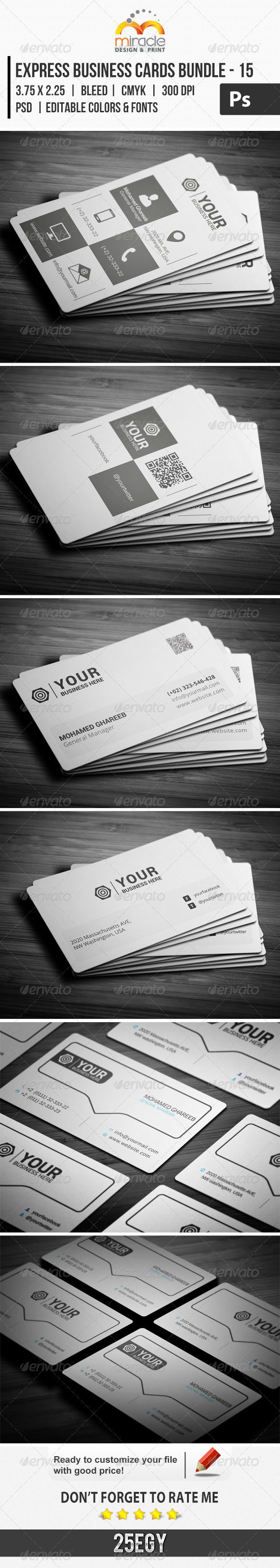 Express business cards bundle psd print template download http express business cards bundle psd print template download httpgraphicriver reheart Gallery