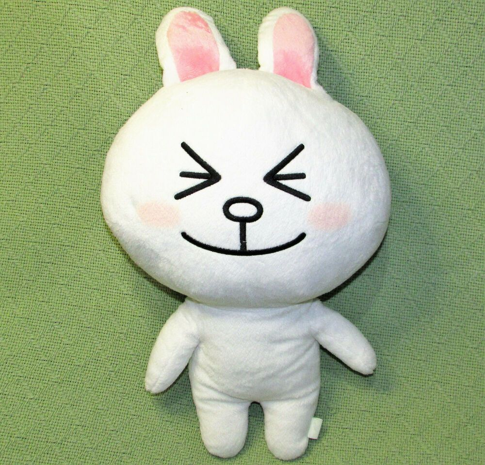 16 japanese style bunny stuffed animal squinting smiling