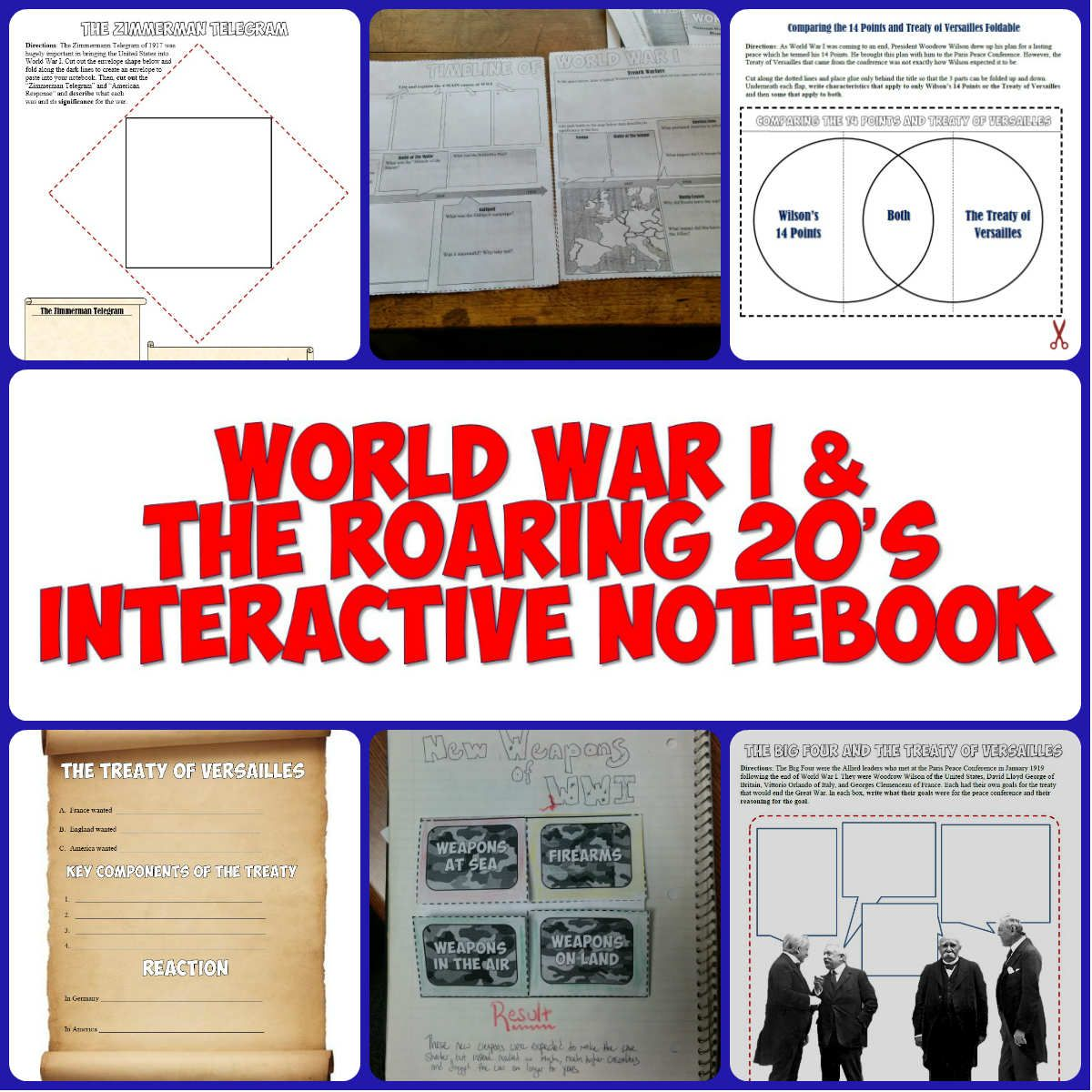 World War I Amp The Roaring 20 S Interactive Notebook Set