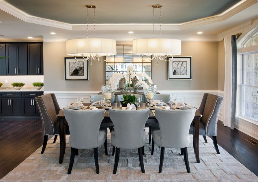 Model Home Dining Rooms Captivating Toll Brothers  Duke Carolina Model Home Dining Room  Dining Room Design Inspiration