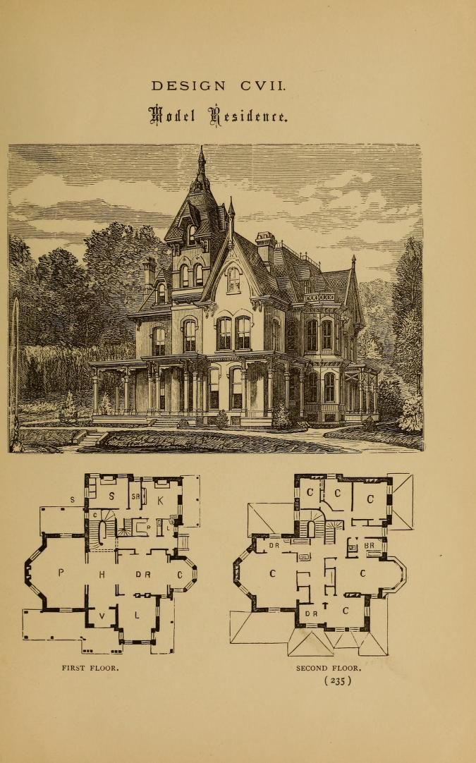 Hobbs S Architecture Containing Designs And Gr Victorian House Plans Vintage House Plans Victorian Homes