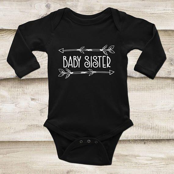 Sister Bear Arrow Baby Girl Bodysuit