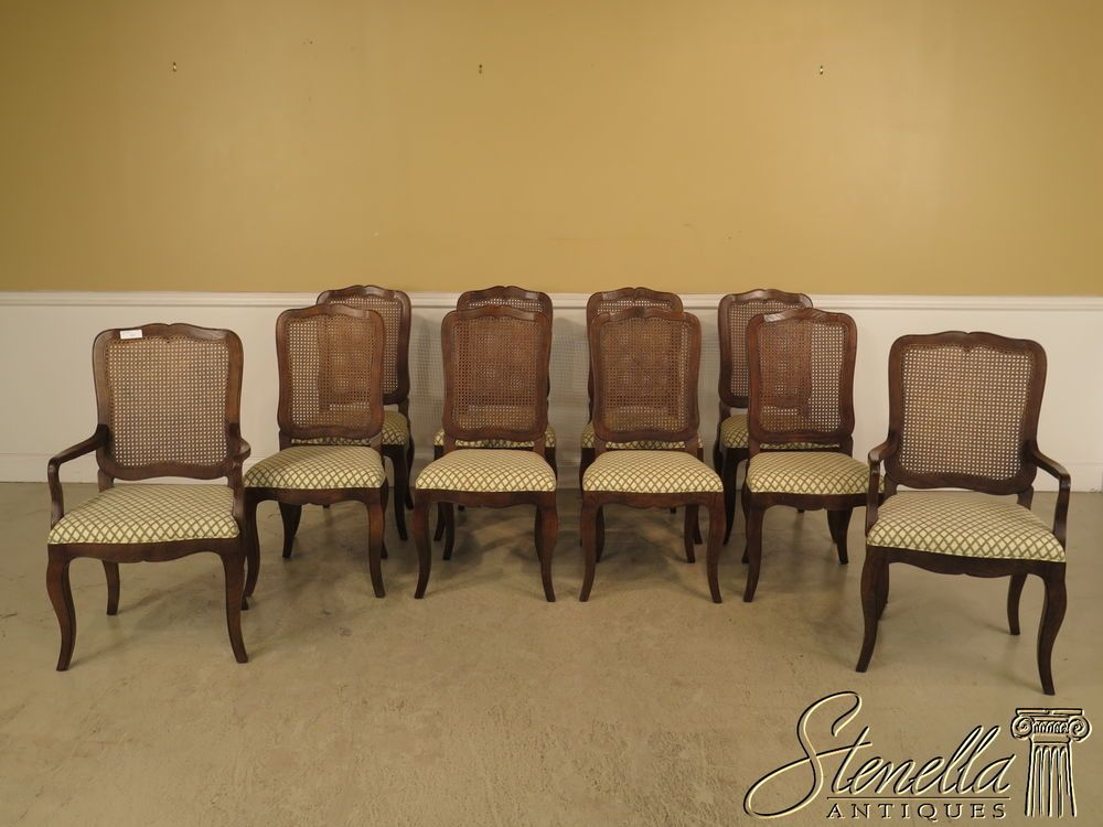 36907 set of 10 baker country french cane back dining room chairs 36907 set of 10 baker country french cane back dining room chairs sxxofo