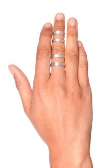 Double Double Ring in Silver