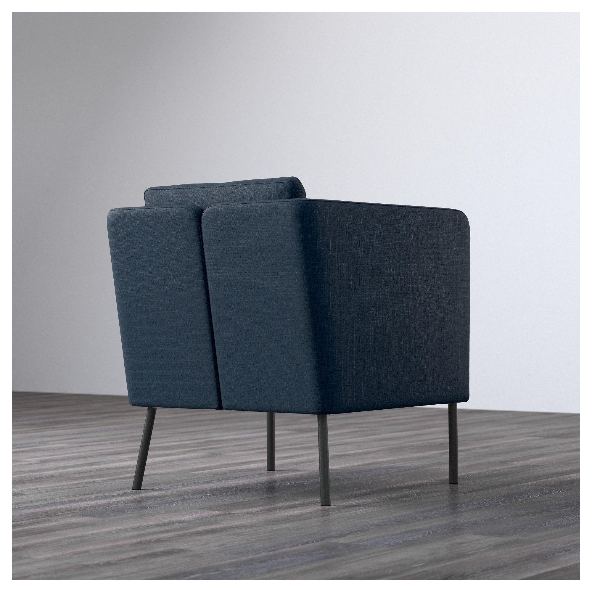 Cuscino Per Pc Ikea.Ikea Ekero Armchair Skiftebo Dark Blue Ikea Chairs In 2019