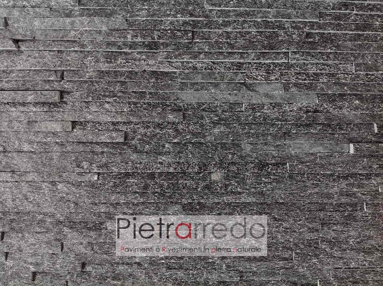 "Rivestimenti In Ardesia Nera rivestimento in pietra ""quarzite nera slim z"" nel 2020"