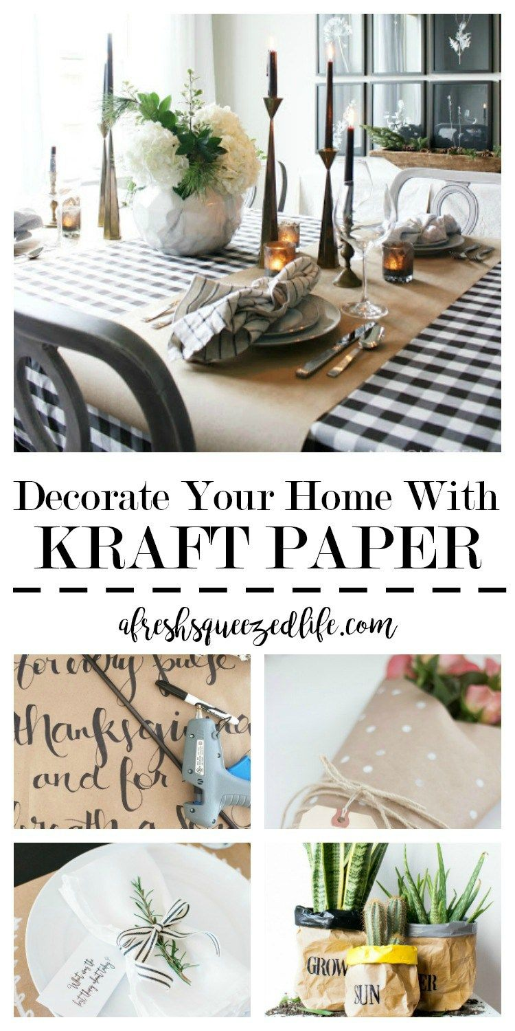 KRAFT PAPER FOR THE HOME | Kraft paper, Saving money and Decorating