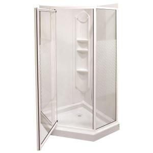 Maax Everest 38 In X 38 In X 74 In Neo Angle Shower Kit 101693