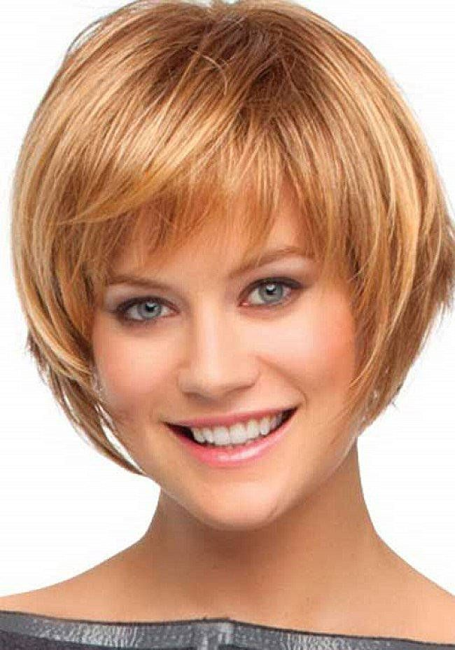 Short Bob Hairstyles with Bangs for Round Faces : Short Hairstyles ...