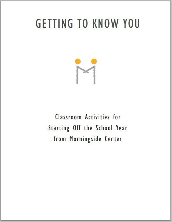 Getting To Know You Classroom Activities For Starting Off The