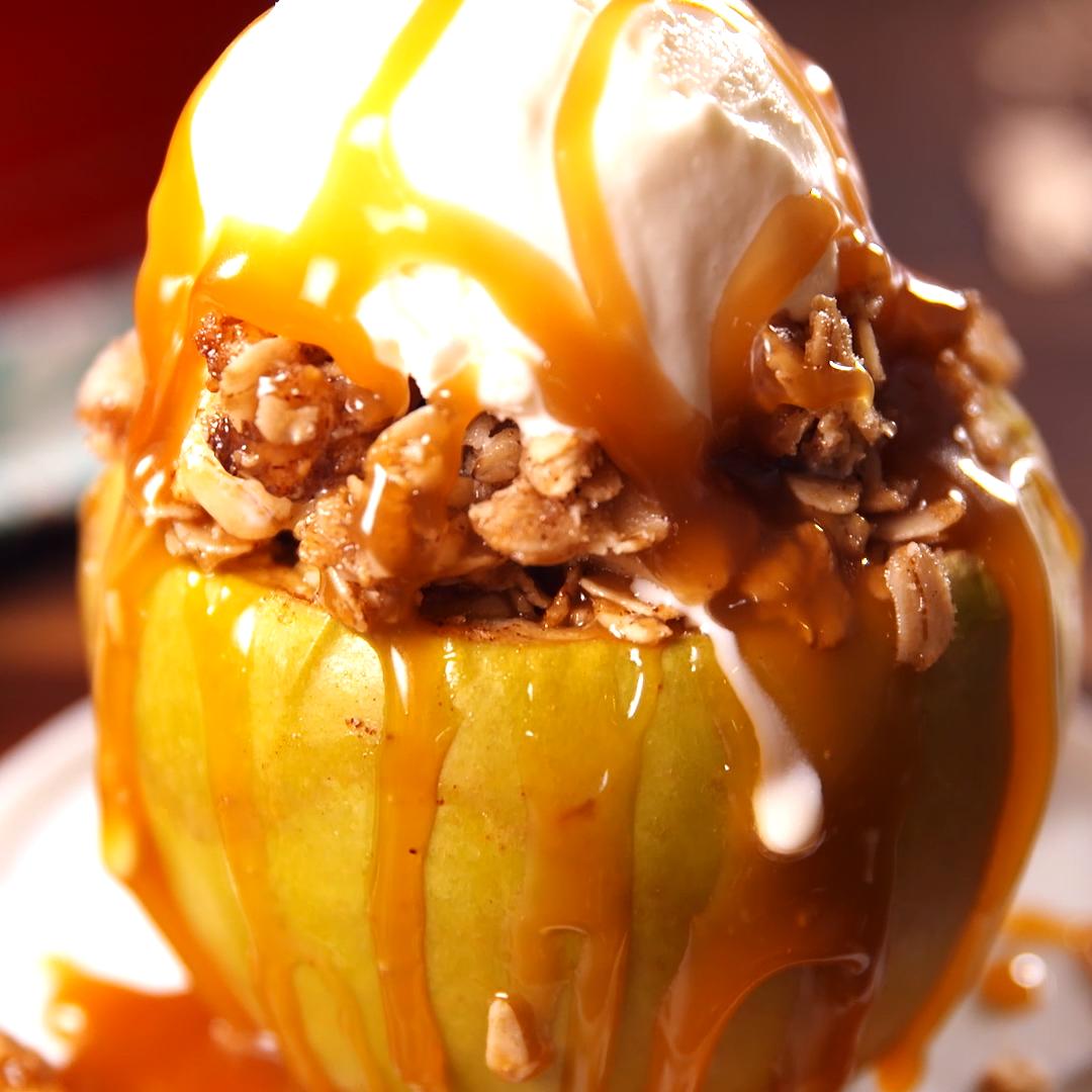 Baked Apple Crisps #applecrisprecipe