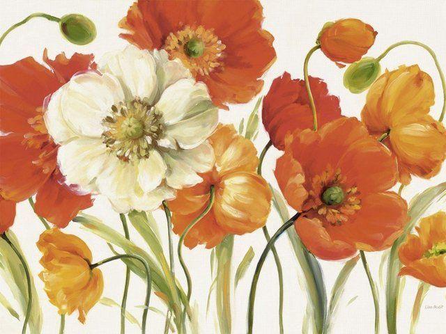 Poster Leinwandbild Blumen Mohnblume Garten Wiese Malerei Wie Man Blumen Malt Blumen Aquarell Bilderrahmen Bemalen