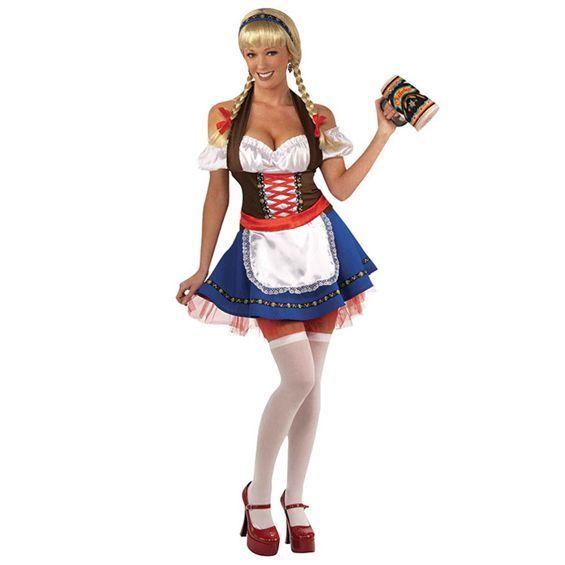 DELUXE OKTOBERFEST BEER WENCH GERMAN FRAULEIN ADULT WOMENS FANCY DRESS COSTUME