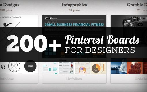 200 Pinterest Boards For Designers To Follow Web Design Design Print Layout