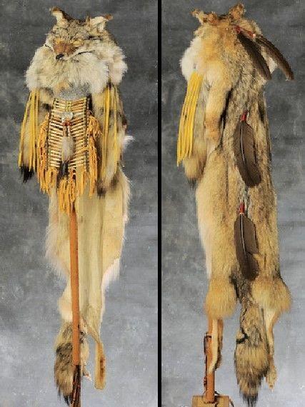 Cherokee Indian Clothes Coyote Shaman Headdress Native Americans