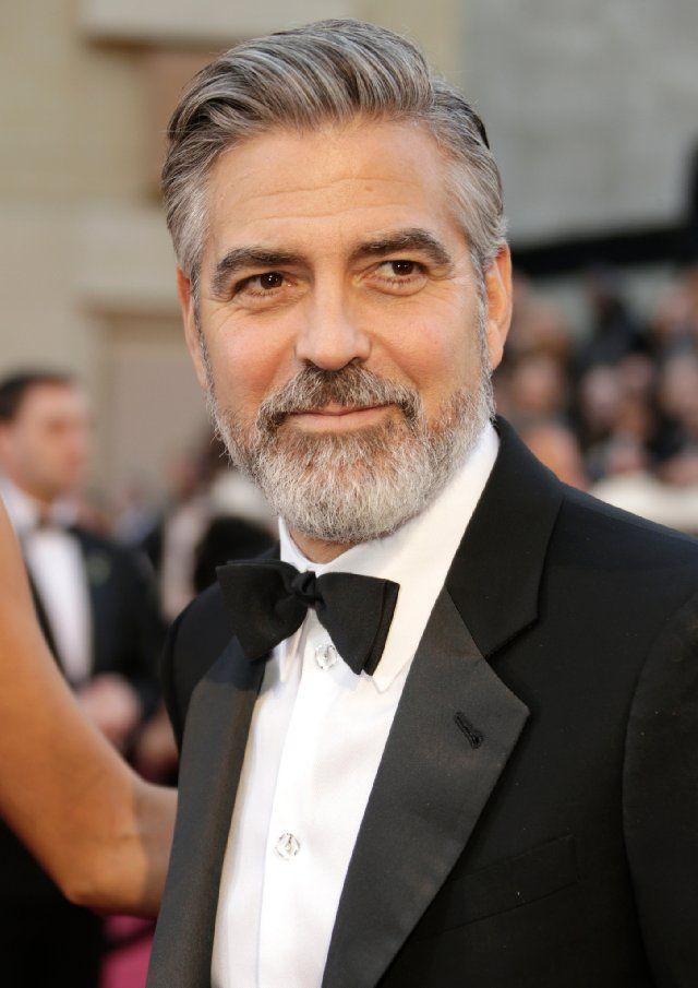 George Clooney Oscar Academy Awards 2013 Older Mens Hairstyles Hair And Beard Styles Mens Hairstyles