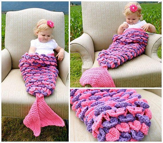 Mermaid Tail Blanket For Toddler Crochet By Warmingheartscrochet
