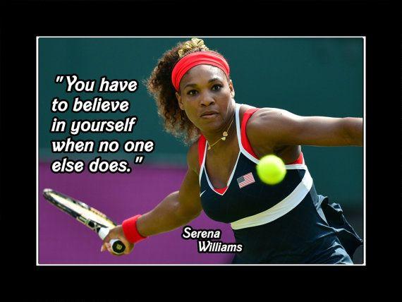 Serena Williams 3 Motivation Inspiration Sport Quote Poster Tennis Picture Photo