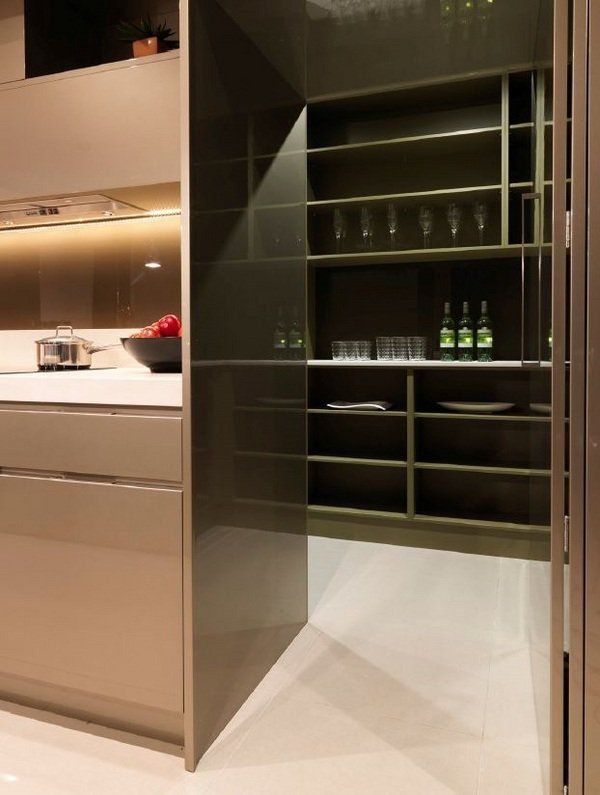 Contemporary Butlers Pantry Design Storage Ideas Open