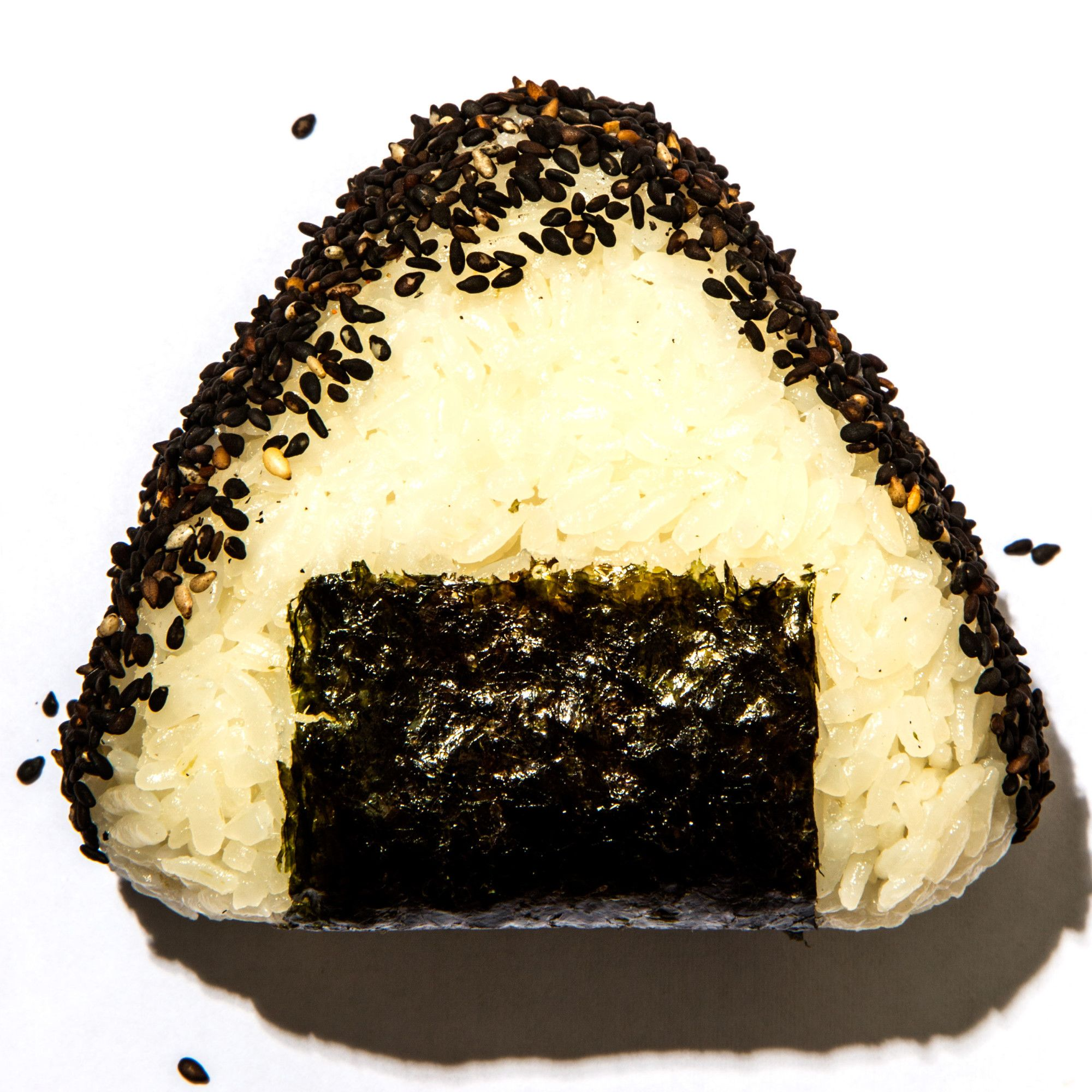 Onigiri: Make sure to rinse the rice in several changes of water before cooking so that it isn't too gluey.