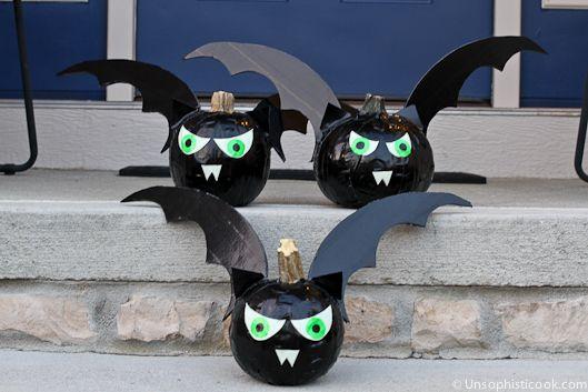 Duck Tape Bat Pumpkins How To by #Walmart Mom Tara - walmart halloween decorations