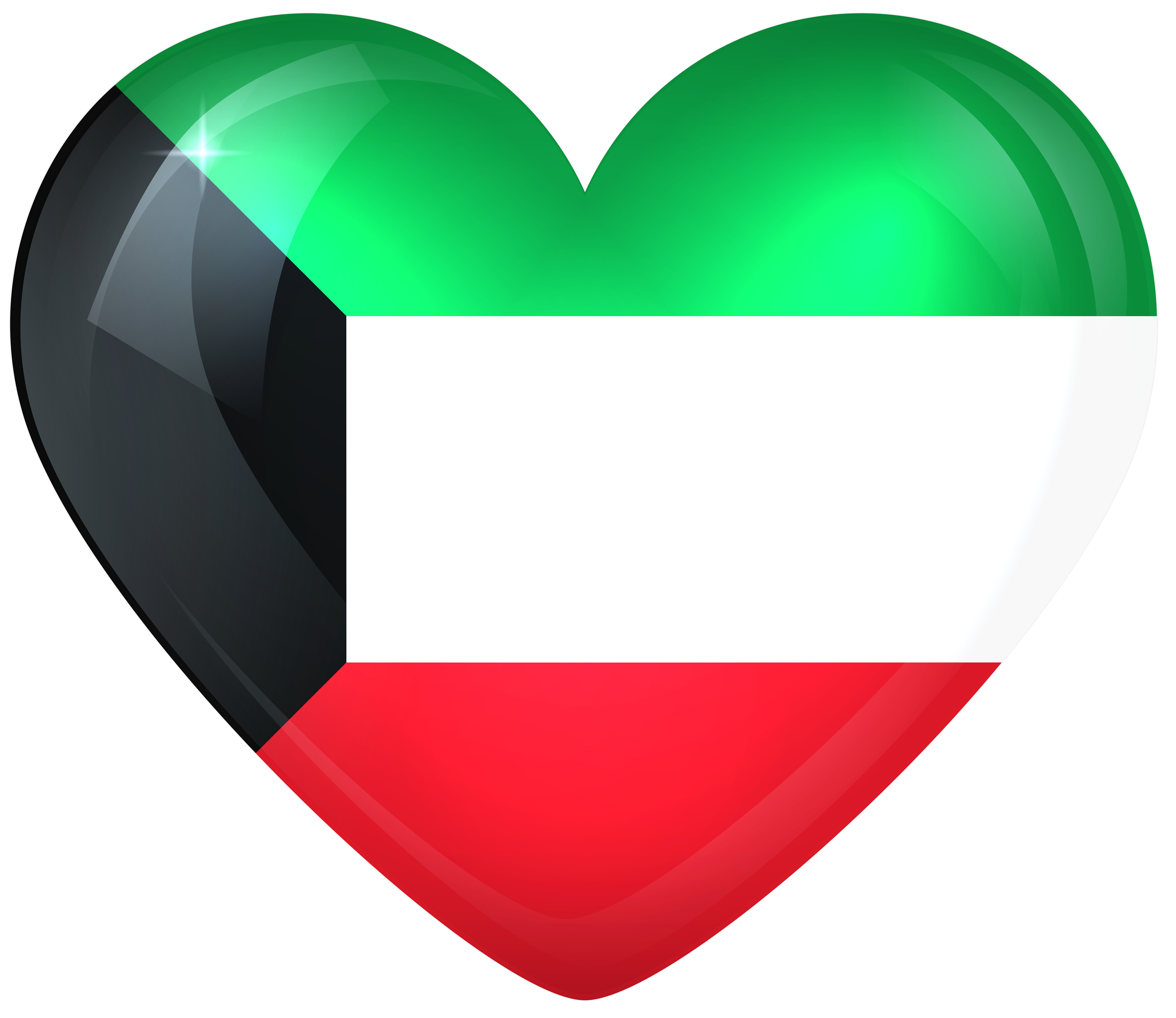 Kuwait Large Heart Flag Gallery Yopriceville High Quality Images And Transparent Png Free Clipart Kuwait National Day Kuwait Flag City Wallpaper
