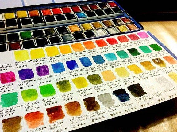 48 Neue Aquarellfarben Gleich Getestet Aquarellfarben